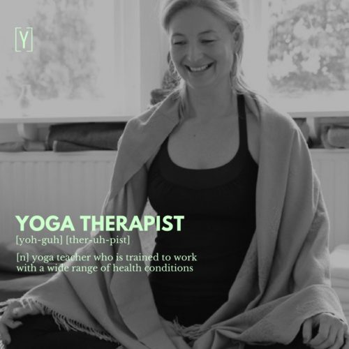 yoga therapist and yoga therapy