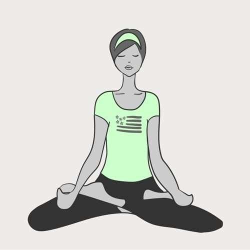 illustration of woman doing a yoga pose